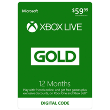 Xbox Live 12 + 1 (13) Month Gold Card