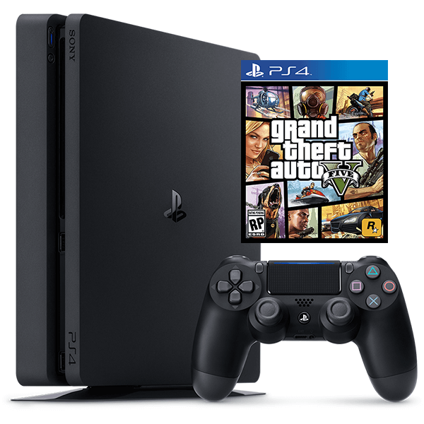 PlayStation 4 500G - GTA V PS4 Bundle