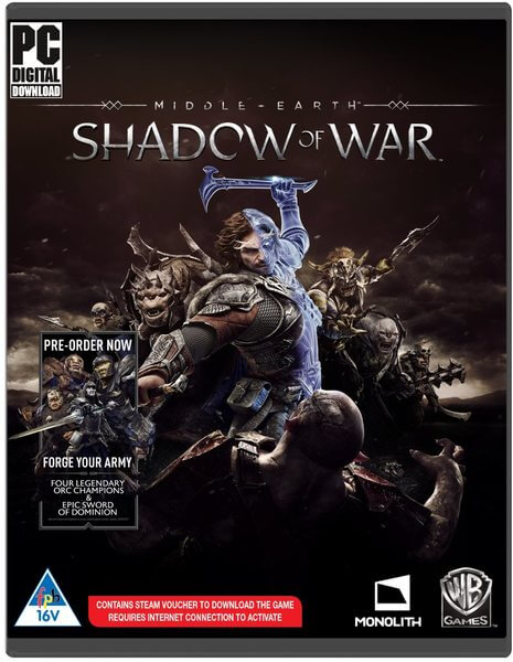 Middle-earth Shadow Of War - Steam PC code