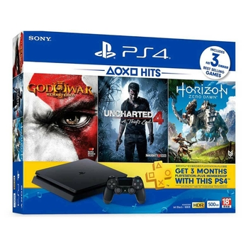 PS4 Slim 500gb 3 Games bundle + 3 Months Plus