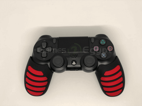 Silicon hand cover for PS4 controller (Red/Black)