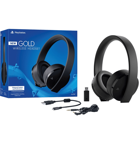 Wireless Gold Headset PlayStation 4 with warranty