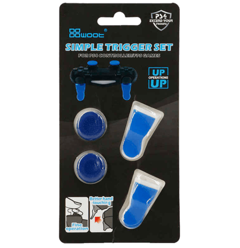 Simple Trigger Set For PS4 Controller - Blue