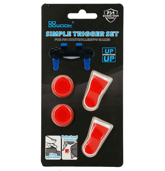 Simple Trigger Set For PS4 Controller - Red