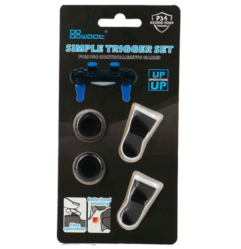 Simple Trigger Set For PS4 Controller - Black