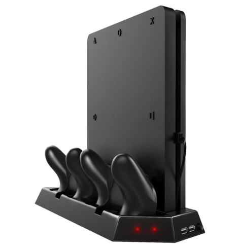 PS4 Stand & Controller Charger with Cooling Fan Slim / Pro