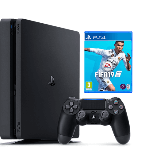 PlayStation 4 500GB FIFA 19 Bundle with warranty