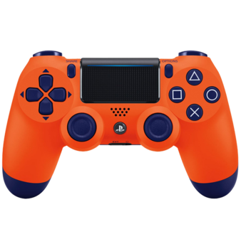 Orange Front Housing Shell PS4 Controller
