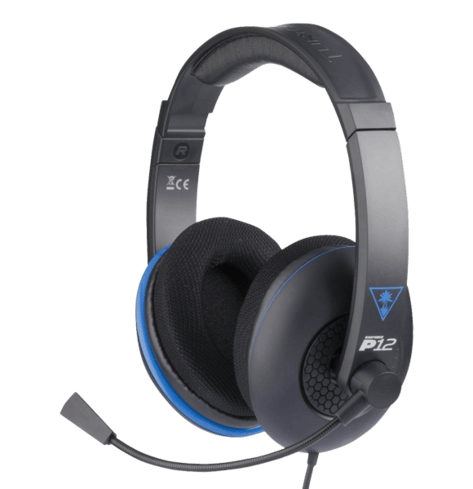 Turtle Beach - Ear Force P12 Amplified Stereo Gaming Headset - PS4, PS Vita, and Mobile Devices