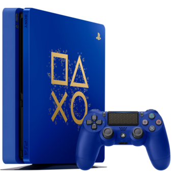 PS4 1tb - Limited Edition Blue - with warranty