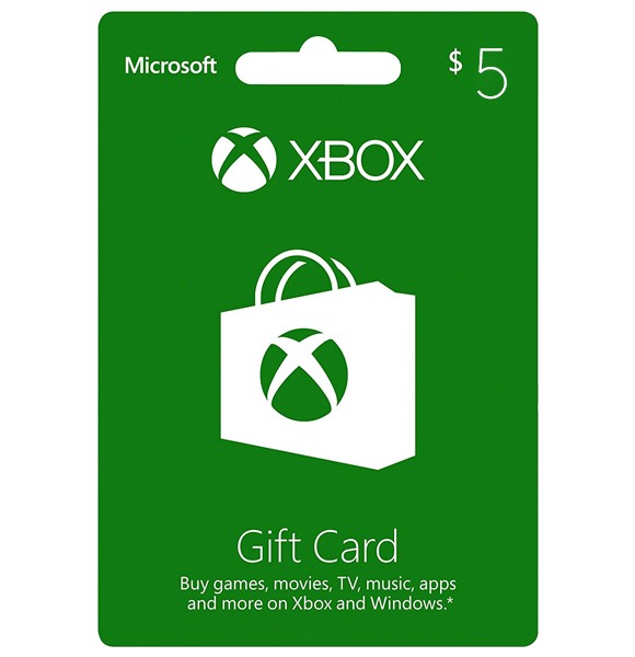 Xbox $5 Gift Card - Digital Code
