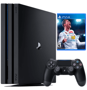 PlayStation 4 Pro Fifa 18 bundle with warranty
