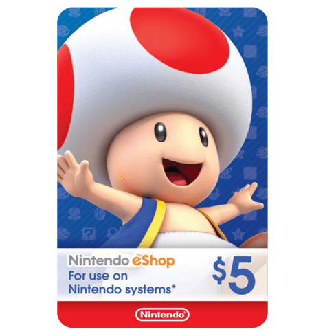 Nintendo E-Shop 5$ USA
