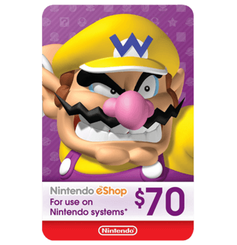 Nintendo E-Shop 70$ USA