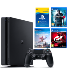 PS4 500GB Slim + 3 Games & 90 Days PSN