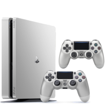 PS4 500 GB - Silver with 2 Controllers