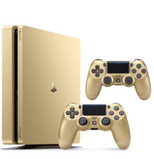 PlayStation 4 500GB Gold + 2 PS4 Controllers