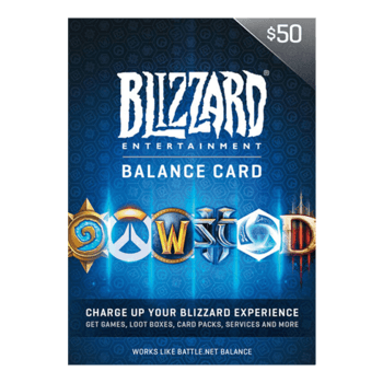 Blizzard gift card 50 gbp