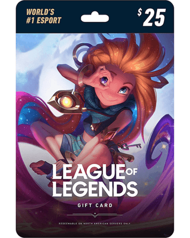 League of Legends Gift Card Riot 25 USD Key NORTH AMERICA