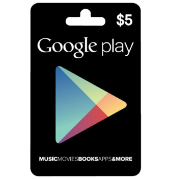Google Play Gift Code 5$ USA