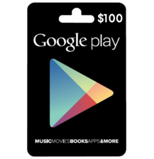 Google Play Gift Code 100$ USA