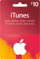 Apple iTunes Gift Card USA 10 USD