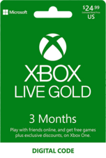 Xbox Live Gold 3 Months US Digital Code