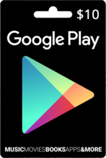 Google Play Gift Code 10$ USA