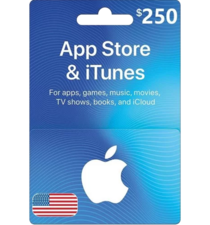 Apple iTunes Gift Card NORTH AMERICA 250$ USD iTunes