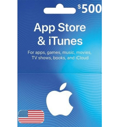 Apple iTunes Gift Card NORTH AMERICA 500$ USD iTunes