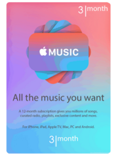 Apple Music 3 Months subscription USA