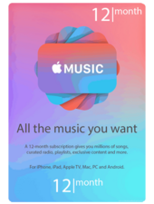 Apple Music 12 Months subscription USA