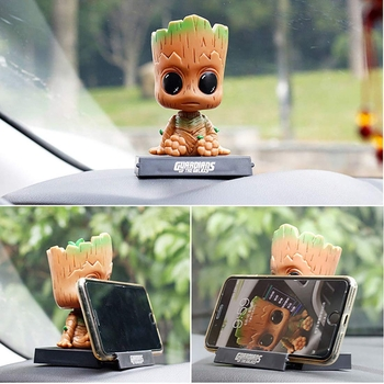 Groot Avengers Bobble Head with Stand & Mobile Holder