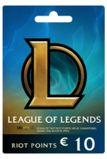 League of Legends 10 EUR EU WEST Prepaid CD Key