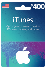 Apple iTunes Gift Card NORTH AMERICA 400$ USD iTunes