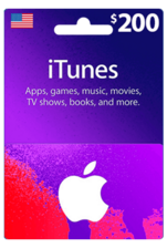 Apple iTunes Gift Card US 200$